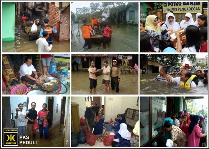 PKS bekerja membantuk korban banjir Jakarta